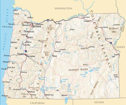 Oregon Map For Kids Images