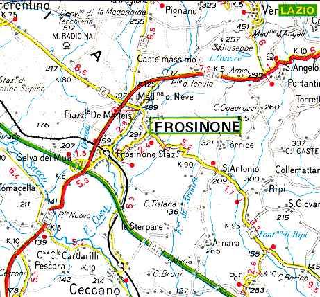 Frosinone Italy Map.Jewish And Kosher Italy Latium Lazio Frosinone