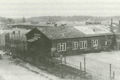 Kamp Amersfoort: A view of the prisoner barracks in Polizeiliches Durchgangslager Amersfoort. The guards were notorious for their harsh treatment of Jews and communists.