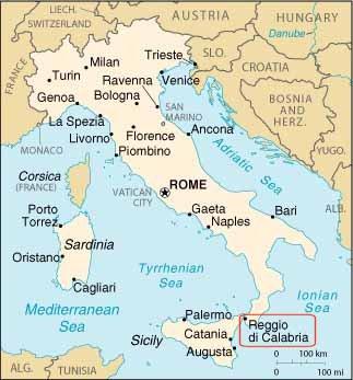Map Of Italy Calabria Region.Jewish And Kosher Italy Region Of Calabria