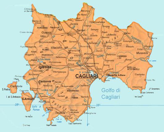 Jewish And Kosher Italy Sardinia Cagliari: Cagliari Sardinia Italy Map At Infoasik.co