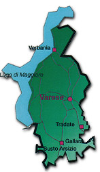 Map of Varese, Lombardy, Italy